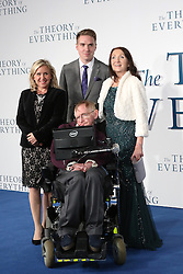 © Licensed to London News Pictures. 09/12/2014, UK. Lucy Hawking, a guest, Jane Hawking, Stephen Hawking, The Theory of Everything - UK film premiere, Leicester Square, London UK, 09 December 2014. Photo credit : Richard Goldschmidt/Piqtured/LNP