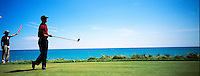 Tiger Woods watches his drive on the fourth hole at round four of the 86th PGA championship held at Whistling Straits Sunday Aug. 15, 2004 Haven Wi.     Photo Darren Hauck....................................................................................