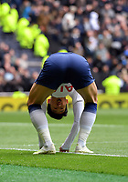 Football - 2018 / 2019 Premier League - Tottenham Hotspur vs. West Ham United<br /> <br /> Tottenham Hotspur's Son Heung-Min frustrated as a chance goes begging, at The Tottenham Hotspur Stadium.<br /> <br /> COLORSPORT/ASHLEY WESTERN
