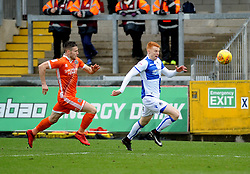 Rory Gaffney of Bristol Rovers gets away from Matthew Sadler of Shrewsbury Town - Mandatory by-line: Neil Brookman/JMP - 03/02/2018 - FOOTBALL - Memorial Stadium - Bristol, England - Bristol Rovers v Shrewsbury Town - Sky Bet League One