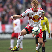 Dax McCarty, New York Red Bulls, in action during the New York Red Bulls V D.C. United, Major League Soccer regular season match at Red Bull Arena, Harrison, New Jersey. USA. 16th March 2013. Photo Tim Clayton