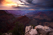 Sunset from Hopi Point on the South Rim of Grand Canyon National Park.
