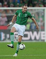 Fotball<br /> 10.06.2012<br /> EM 2012<br /> Irland v Kroatia<br /> Foto: Witters/Digitalsport<br /> NORWAY ONLY<br /> <br /> John O'Shea (Irland)<br /> Fussball EURO 2012, Vorrunde, Gruppe C, Irland - Kroatien 1:3