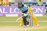 Natalie Sciver turns the ball to leg during the Royal London Women's One Day International match between England Women Cricket and Australia at the Fischer County Ground, Grace Road, Leicester, United Kingdom on 2 July 2019.