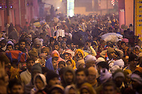 Millions flock through the narrow streets of Allahabad, India to take a holy dip in the Ganges river during the Kumbh Mela.