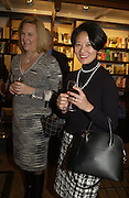 Allison Wagner and Wanda Kim. Book party for 'The Dream of Rome' by Boris Johnson. Daunts bookshop. Marylebone High St. London.  1 February 2006. -DO NOT ARCHIVE-© Copyright Photograph by Dafydd Jones 66 Stockwell Park Rd. London SW9 0DA Tel 020 7733 0108 www.dafjones.com