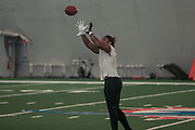 Miami Dolphins wide receiver Albert Wilson (15) catches a pass during training camp at the Baptist Health Training Facility at Nova Southeastern University, Friday, August 2, 2019, in Davie, Fla. (Kim Hukari/Image of Sport)
