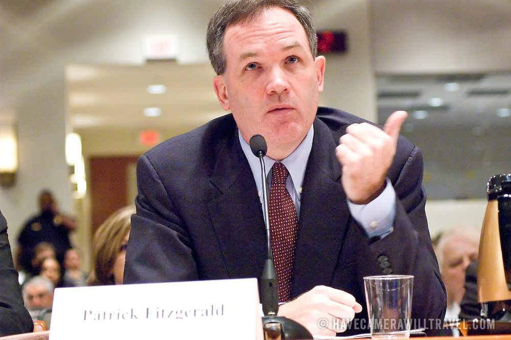 "Patrick J. Fitzgerald (U.S. Attorney for the Northern District of Illinois). Panel: Al Qaeda. The 9/11 Commission's 12th public hearing on ""The 9/11 Plot"" and ""National Crisis Management"" was held June 16-17, 2004, in Washington, DC."