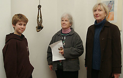 Louis Mulloy, Shirley Piggins and Veronica Bolay were picture at the opening of John Rowland's exhibition that took place at the Custom House Studios.<br /><br />Pic Conor McKeown.