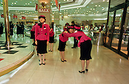 = Morning exercises at the ~Lotte~ department store~  ///Opening ceremony in the morning of an important department store of Seoul. The Korean are very fond of ceremonies.  +
