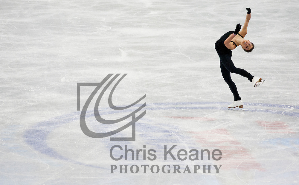Alissa Czisny skates through her routine during a practice session at the U.S. Figure Skating Championships in Greensboro, North Carolina on January 26, 2011. REUTERS/Chris Keane (UNITED STATES)