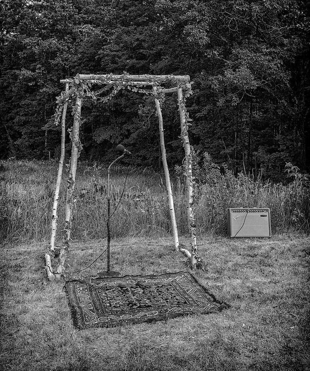 Bridal arbor in Antrim, New Hampshire. June, 2016.