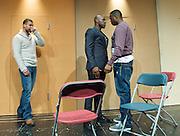 Blackta<br /> by Nathaniel Martello-White<br /> at the Young Vic Theatre, London, Great Britain <br /> press photocall <br /> 1st November 2012 <br /> <br /> Howard Charles <br /> <br /> Daniel Francis<br /> <br /> Anthony Welsh <br /> <br /> Javone Prince <br /> <br /> Leo Wringer<br /> <br /> Michael Oku <br />  <br /> <br /> Photograph by Elliott Franks