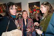 TANYA HARCOURT-COOZE; MAIA HIRST; GEORGIE MANNERS, Exhibition of Gerald Laing Graphics. Opening of the Morton Metropolis Gallery. Hosted by Serena Morton and Raye Cosbert.  London. 10 February 2010
