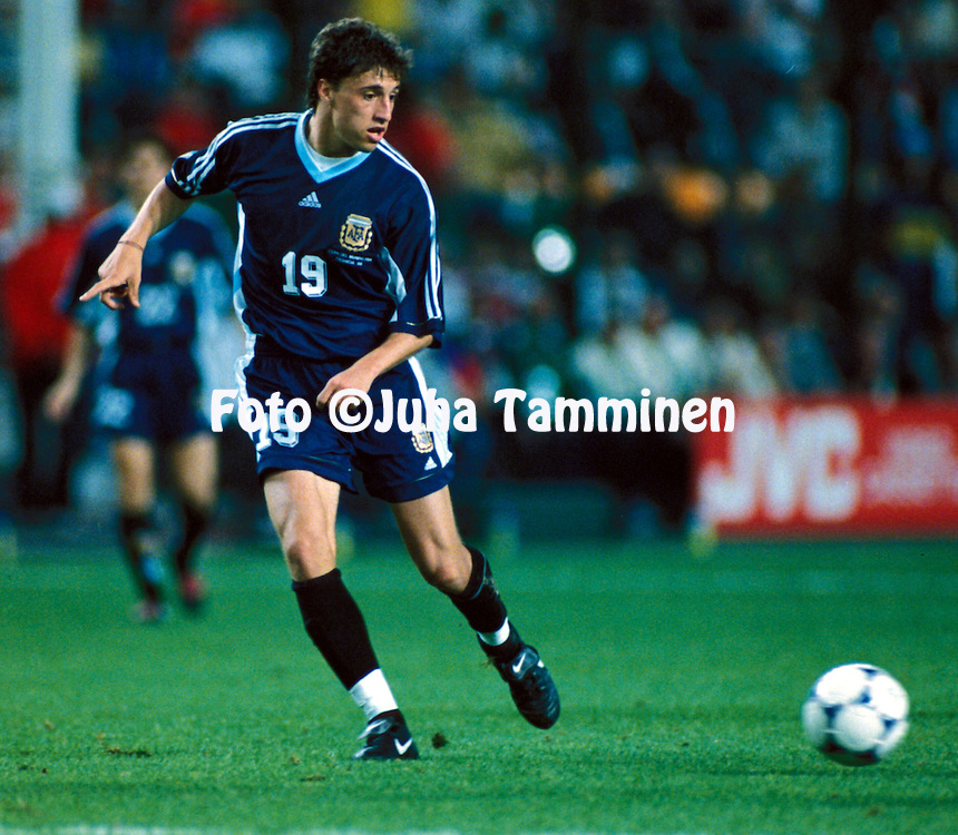 FIFA World Cup - France 1998.Hern?n Crespo - Argentina.©JUHA TAMMINEN