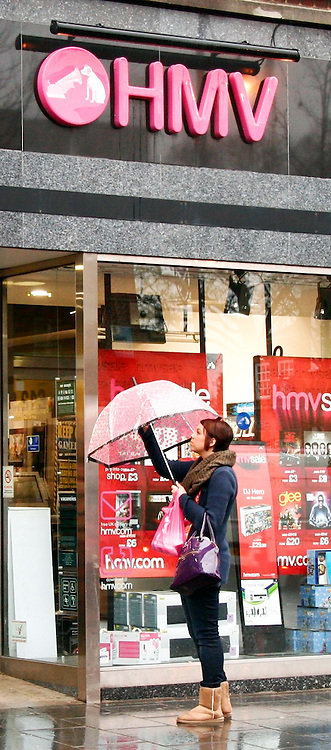 © under license to London News Pictures.  .6/1/2011. HMV store in St Albans, Herts today (06/01/2011). HMV Group, the retailer, will close around 40 HMV stores and 20 Waterstone's branches this year as it battles to revive its fortunes in a deeply challenging marketplace. .Photo credit should read Craig Shepheard / London News Pictures