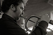 Rory Simmons on flugel Horn with the Tom Richards Orchestra at the Friday Tonic concert in 2008. Frontroom, Queen Elizabeth Hall, Southbank Centre, London