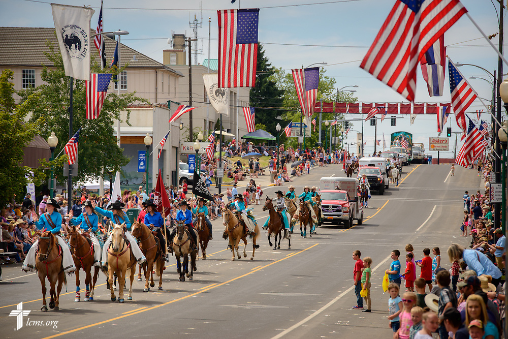 Visitors watch the Grangeville Border Days Independence Day celebration and parade on Tuesday, July 4, 2017, in Grangeville. LCMS Communications/Erik M. Lunsford