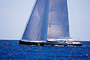 LadyB sailing in the Caribbean Superyacht Regatta and Rendezvous, race 3.