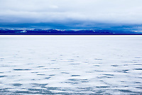 Frozen Yellowstone Lake, Yellowstone National Park, Wyoming