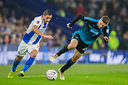 Anthony Knockhaert (Brighton) & Sam Field (West Brom) during the FA Cup fourth round match between Brighton and Hove Albion and West Bromwich Albion at the American Express Community Stadium, Brighton and Hove, England on 26 January 2019.