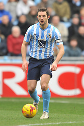 ADAM ARMSTRONG COVENTRY CITY, BATTLES WITH FLEETWOODS VICTOR NIRENNOLD, SAM RICKETTS COVENTRY CITY Coventry City v Fleetwood Town Ricoh Arena, Sky Bet League One Saturday 27th February 2016
