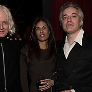 (l-r) Paul Cantelon, Missy Broly and Wesley Stace at the 'Still Waters in a Storm' benefit at The City Winery NYC. <br /> <br /> Still Waters in a Storm is a free school for children in the neighborhood of Bushwick, Brooklyn.Volunteers offer homework help and classes in reading, writing, violin, music composition, yoga and Latin, all free of charge to low-income families in the neighborhood.