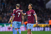 Javier Hernandez of West Ham United (17) face says it all after missing a clear chance to score during the Premier League match between Huddersfield Town and West Ham United at the John Smiths Stadium, Huddersfield, England on 10 November 2018.
