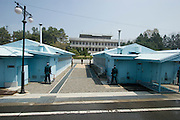 Panmunjom. Joint Security Area. South Korean (front) and North Korean side.