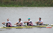 Hammersmith, Greater London, UK. Leander Club, Bow, Alan SINCLAIR,Will SATCH, Tom RANSLEY and Alex GREGORY, competing in the 2015 Fours Head of the River Race, River Thames [ opposite Chiswick Eyot]  Saturday  07/11/2015 <br /> <br /> [Mandatory Credit: Peter SPURRIER: Intersport Images]