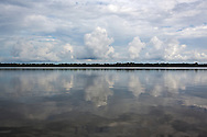 Cloudy sky over Lake Fausse Pointe