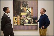 CHRISTIAN LEVETT; TOBY CLARKE; ,, Exhibition of work by Matthew Burrows. Vigo Gallery, Dering St. London. 12 March 2014.