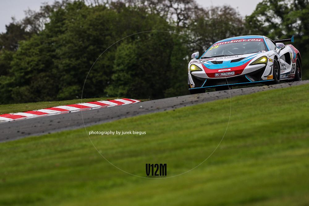 In2Racing | McLaren 570S GT4 | Marcus Hoggarth | James Birch | British GT Championship | Oulton Park | 17 April 2017 | Photo: Jurek Biegus