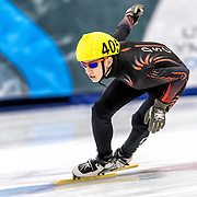 December 17, 2016 - Kearns, UT - Clayton DeClemente skates during US Speedskating Short Track Junior Nationals and Winter Challenge Short Track Speed Skating competition at the Utah Olympic Oval.