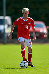 NEWPORT, WALES - Wednesday, July 25, 2018: Harrison Bright during the Welsh Football Trust Cymru Cup 2018 at Dragon Park. (Pic by Paul Greenwood/Propaganda)