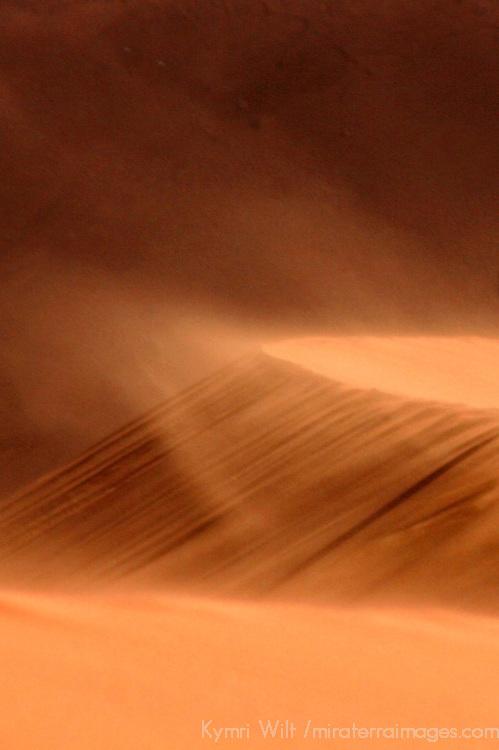 Africa, Namibia, Sossusvlei. Windblown dunes at Sossussvlei, Namibia.