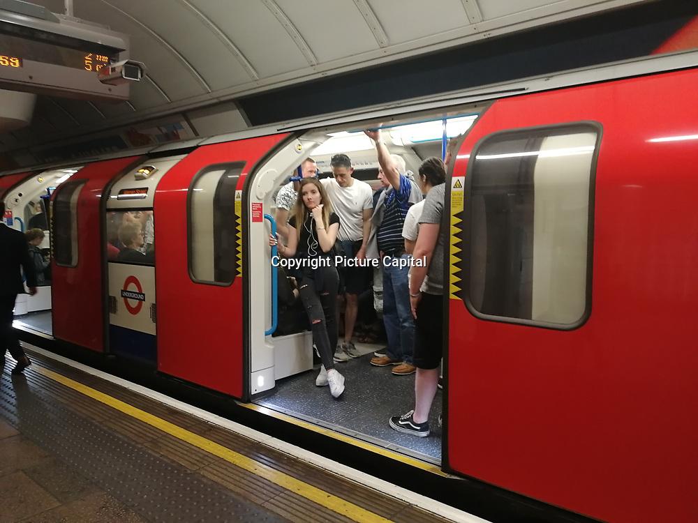 Oxford Street busy underground on 1 June 2019, London, UK