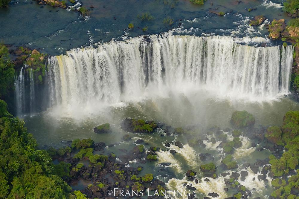 Iguazu Falls (aerial), Iguazu National Park, Argentina