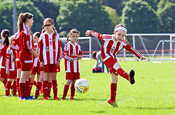 CARDIFF, WALES - Thursday, June 1, 2017: Fairwater Juniors FC during the FAW National Women's & Girls Football Festival in at the Cardiff University Sports Fields in Llanrumney. (Pic by David Rawcliffe/Propaganda)