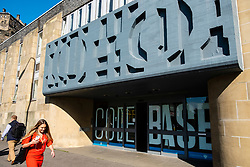 Exterior of technology incubator Codebase offices in Edinburgh, Scotland, UK. CodeBase is the UK's largest startup incubator, home to more than 100 of the country's best technology companies.