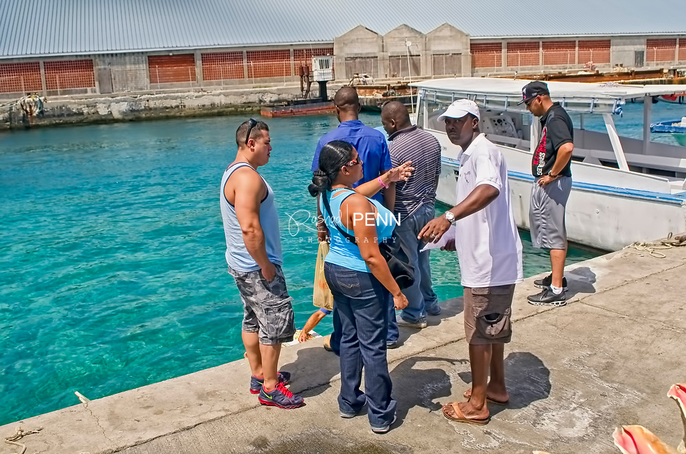 Prince George Wharf boats, people, souvenirs, water sports and excursions.