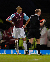 Photo: Leigh Quinnell.<br /> West Ham United v Fulham. The Barclays Premiership. 13/01/2007. West Hams Bobby Zamora is sent off by referee Graham Poll.