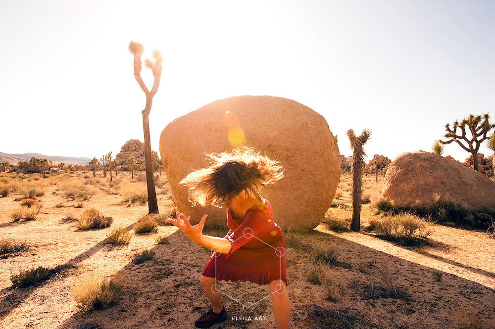Fierce dancer in the desert.