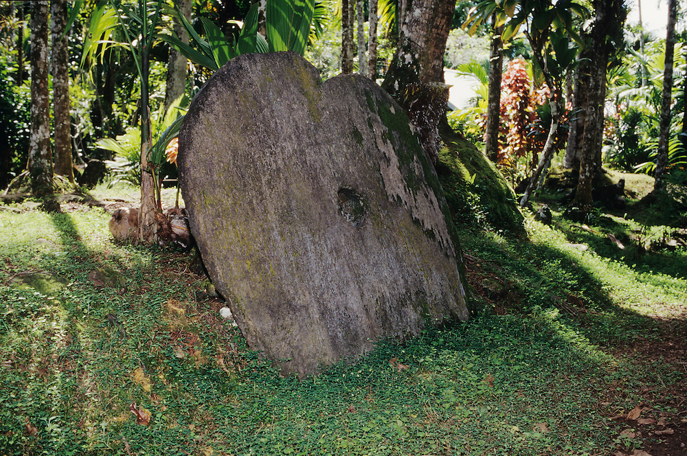 Thool Village, Rai, Stone money, Yap, Wa`ab, Waqab, Federated States of Micronesia, islands in the Caroline Islands