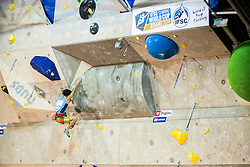 Sachi Amma (JAP) during men final competition of IFSC Climbing World Cup Kranj 2014, on November 16, 2014 in Arena Zlato Polje, Kranj, Slovenia. (Photo By Grega Valancicr / Sportida.com)