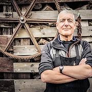 Max McCance, sculptor of technorganic furniture at his studio in Kinloch, Fife<br /> ©Damian Shields/Visit Scotland