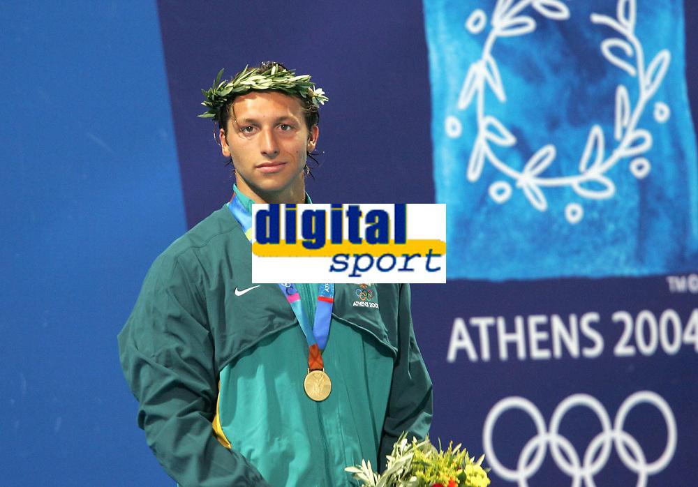 OL 2004 Athen<br /> Sv&oslash;mming<br /> 16.08.2004<br /> Foto: Witters/Digitalsport<br /> NORWAY ONLY<br /> <br /> Ian Thorpe Australien 400m Freistil Olympiasieger<br /> Olympia 2004 Schwimmen
