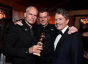 Martin McDonagh, from left, Graham Broadbent, and Carter Burwell attend FOX 2018 Golden Globes After Party at The Beverly Hilton on Sunday, January 7, 2018, in Beverly Hills, Calif. (Photo by Jordan Strauss/JanuaryImages/Invision/AP)