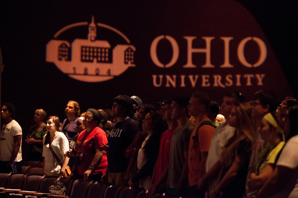 The audience at the 50th Anniversary of the March on Washington at Templeton -Blackburn Alumni Memorial Auditorium on August 28, 2013.