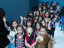 Children models present creations by designer Xu Xinyin during the Children's Ethnic Apparel Collection of the China Fashion Week in Beijing, capital of China, March 31, 2016. EXPA Pictures © 2016, PhotoCredit: EXPA/ Photoshot/ Li Jianbo<br /> <br /> *****ATTENTION - for AUT, SLO, CRO, SRB, BIH, MAZ, SUI only*****